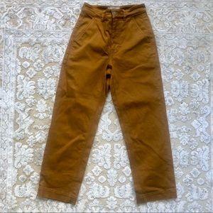 Everlane Straight Leg Crop in Golden Brown